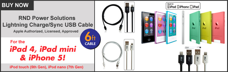 Apple Lightning Cables for iPhone 5, iPad mini, iPad 4