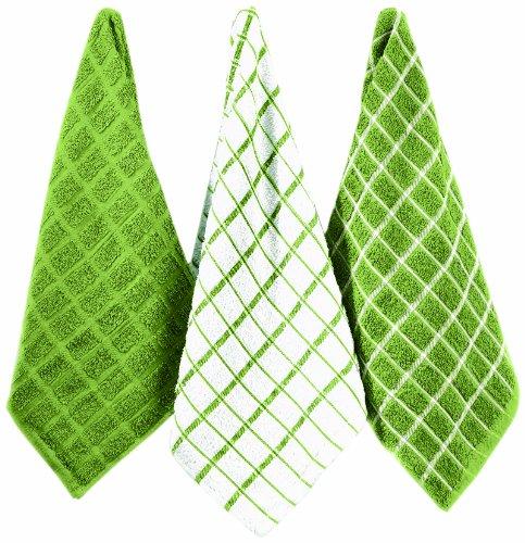 Ritz Terry Cotton Kitchen Towels, Cactus, 3-Pack