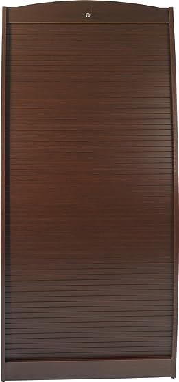 Simmob PARIS580WE armadio informatico curvo, legno Wengé, 80 cm