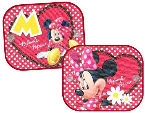 Mickey Mouse Minnie Car Sunshade Fixing with Suction Cups (2 Pieces)