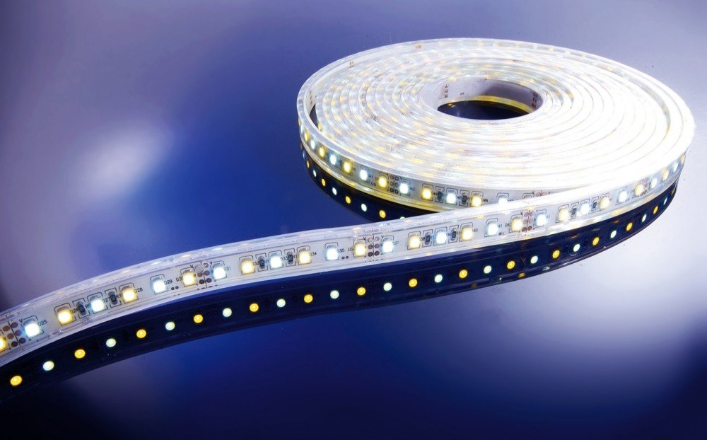 KapegoLED Flexibler LED Stripe, 3528, SMD, 12 V DC, 48 W, warmweiß und kaltweiß 840044