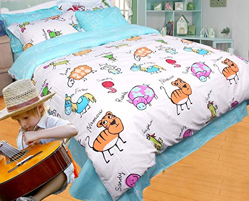 New You need to don ut pause to buy YOYOMALL Original Zodiac Signs Bedding Sets for TeensCartoon Colorful Zodiac sign applies Bedding Sets for Kids currently
