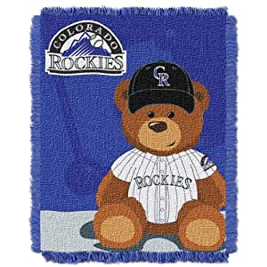 MLB Colorado Rockies Field Woven Jacquard Baby Throw Blanket, 36x46-Inch by Northwest
