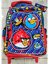 Angry Birds School Backpack + Trolley Bag 2in1.