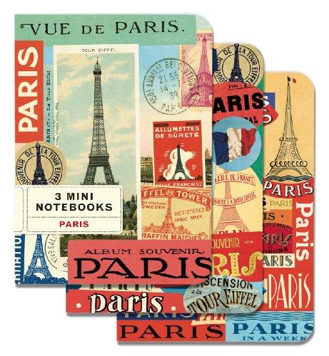 61xKuH%2B8zxL. SL500  Cavallini Mini Notebooks Paris 4 x 5 5, 3 Mini Notebooks