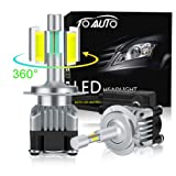 Type 1 360 Degree w//Projector Fanless Plug-N-Play Replacement High Power COB PS24W VehiCode Super Bright 2000 Lumens 5202 5201 H16 3000K Gold Yellow LED Fog Light Bulbs//DRL Kit 2 Pack