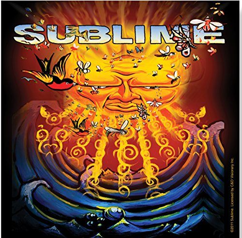 Licenses Products Sublime Sun Sea and Birds Sticker