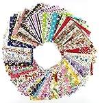 60 Pcs Fabric Cotton 100% Printed Bou...