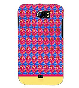 PrintDhaba Typography D-1915 Back Case Cover for MICROMAX A110 CANVAS 2 (Multi-Coloured)