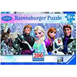 Ravensburger 12801 Disney Frozen: Arendelle im ewigen Eis, 200 Teile Panorama-Puzzle