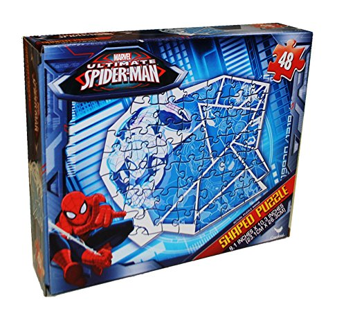 Marvel Ultimate Spiderman 48 Piece Shaped Puzzle (Shattered Ice) - 1