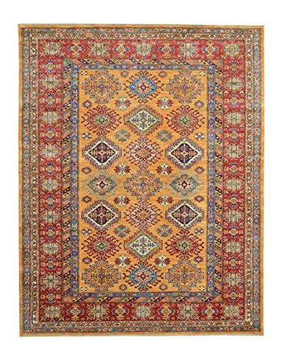 Kalaty One-of-a-Kind Kazak Rug, Gold, 5' 9 x 7' 9