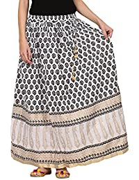 Saadgi Rajasthani Hand Block Printed Handcrafted Pure Rayon Lehnga Skirt For Women/Girls - B06XGHWJ2S