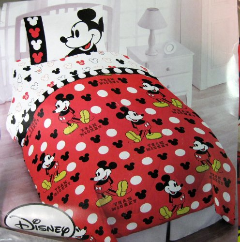 Cheap Mickey Mouse Twin Bedding (4 Piece Set) ★ Twin Bedding