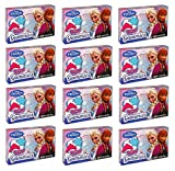 Disney Frozen Gummies Strawberry & Blue Raspbery: 12 Boxes of 2.46 Oz - Dts