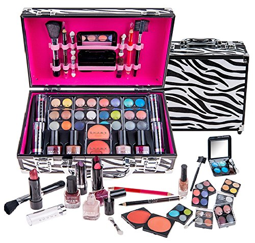 SHANY-Carry-All-Makeup-Train-Case-with-Pro-Makeup-and-Reusable-Aluminum-Case-Zebra