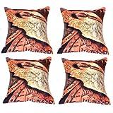 MeSleep Digital Print Lost Treasure 4 Piece Cushion Cover Set - Multicolor