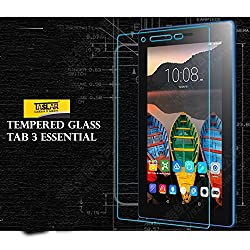 Taslar(TM) Premium Arc Edge Tempered Glass Screen Scratch Guard Protector for Lenovo Tab3 7 Essential Tablet 7 inch - Transparent