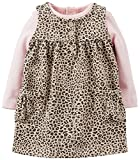 Carter's Baby Girls 2-Piece Bodysuit & French Terry Jumper Set (9 Months, Leopard Print)