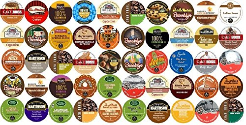 50-Count K-Cup For Keurig Brewers All Coffee Regular & Flavored Variety Pack Featuring Tim Horton'S, Green Mountain, Coffee People, Emeril'S, Newman'S Own Organic, Donut House, Caza Trail, Gloria Jean'S, Grove Square Cappuccino, Authentic Donut House, Bar front-250741