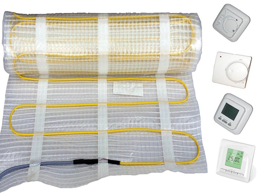 Fußbodenheizung Elektro, 160Watt/m², vollwertige Raumheizung für 1m²  15m², für keramische Böden (Fliesen), inkl. Regler, Fläche2 qm;ReglerNr 760 (DigitalRegler)  BaumarktKundenbewertung: