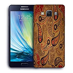 Snoogg Cream Feather Printed Protective Phone Back Case Cover For Samsung Galaxy A5
