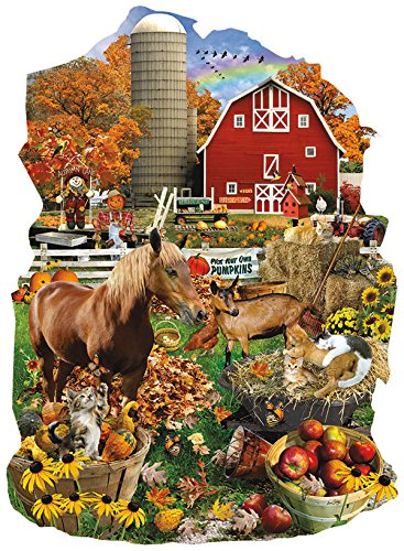 On the Farm Shaped 1000 Piece Jigsaw Puzzle by Sunsout Inc.