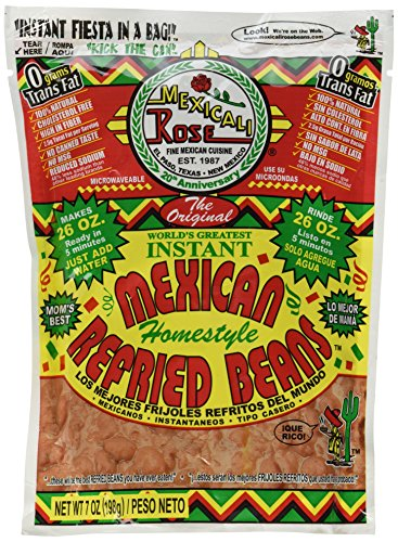 Mexicali Rose Instant Homestyle Refried Beans 7oz (Freeze Dried Refried Beans compare prices)