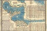 "1847 Map of the Izu Islands, Japan - 24""x36"" Poster"
