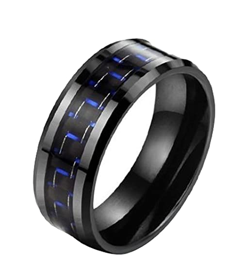 Generic Women's Shallow Wedding Ring Size 11 Color Black
