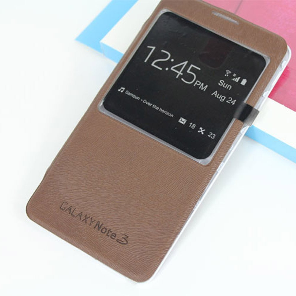 ArkAge Ultra-slim S-View Replacement Battery Cover- Brown