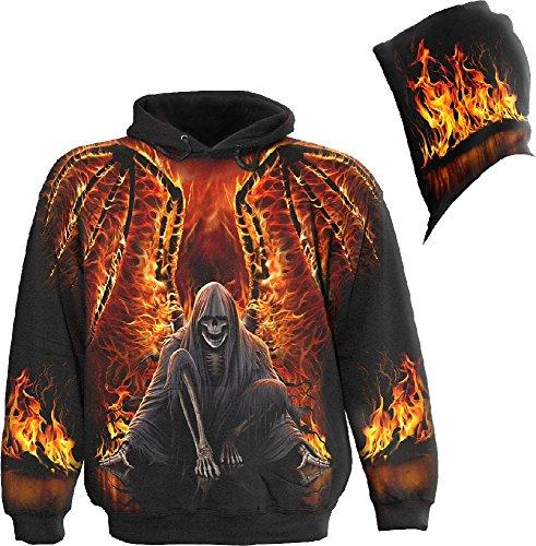 Spiral Flaming Death Felpa con cappuccio nero M