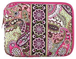 Vera Bradley Laptop Sleeve (Very Berry Paisley)