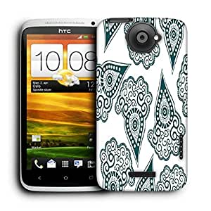 Snoogg Green Pattern Printed Protective Phone Back Case Cover For HTC One X