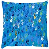 Snoogg don't touch my phone Digitally Printed Cushion Cover throw pillows 12 x 12 Inch