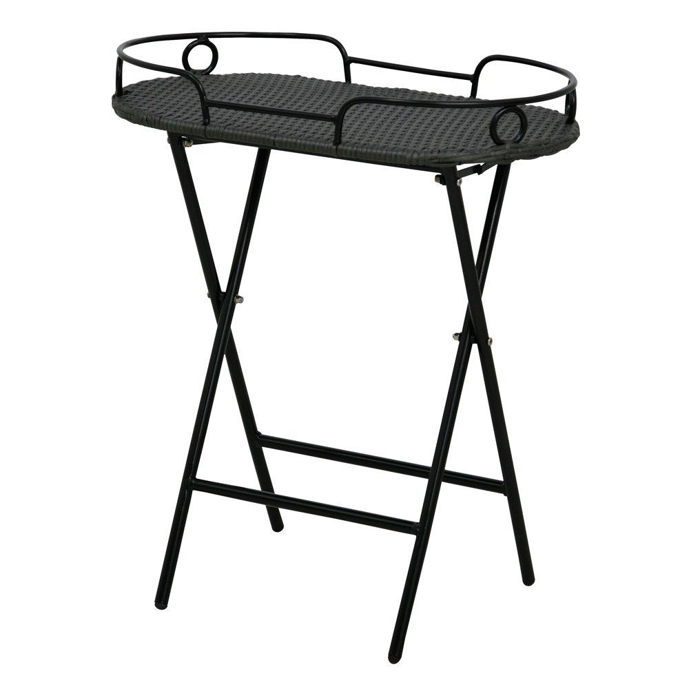 Siena Garden 915714 Serviertisch Side,Stahlgestell schwarz, Gardino-Geflecht titan, 68 x 41 x 60 cm online kaufen