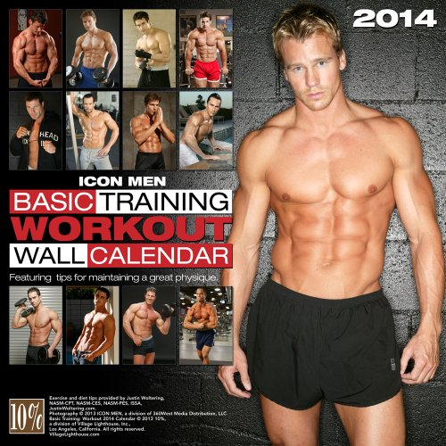 Icon Men: Basic Training: Workout 2014 Calendar (Wall Calendar)