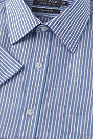 Ultimate Non-Iron Pure Cotton Striped Oxford Shirt