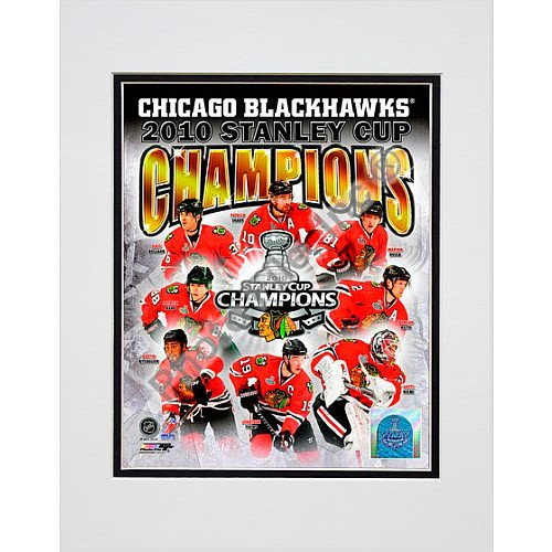 Photo File Chicago Blackhawks 2010 Stanley Cup Champions 8x10 Matted Photo