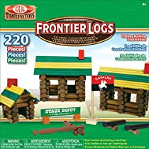 Ideal Frontier Logs 220 Piece Classic Wood Construction Set
