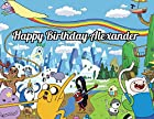 Adventure Time Edible Image Photo Cake Topper Sheet Personalized Custom Customized Birthday Party - 1/4 Sheet - 78677
