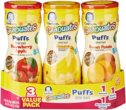 Gerber Graduates Puffs, Apple, Banana & Sweet Potato (3 Count, 1.48 Oz Each)