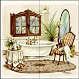 The Tile Mural Store - Antique Bath I by Jerianne Van Dijk - Kitchen Backsplash / Bathroom wall Tile Mural