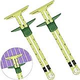 Yuema 2 Pcs Handy Sliding Gauge Measuring Sewing Tool, Plastic T Gauge Hem Gauge for Sewing Quilting, 2 Different Size