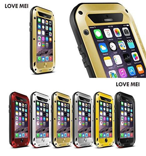 JUVENAiphone6 /plus専用保護ケース 耐衝撃、防塵、防水 強化ガラス (iPhone 6 Plus(5.5), ゴールド)