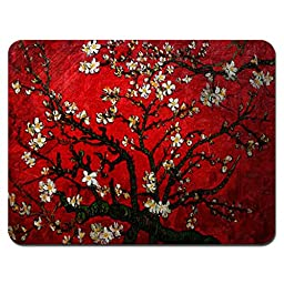 Meffort Inc® Standard 9.5 x 7.9 Inch Mouse Pad - Vincent van Gogh Cherry Blossoming
