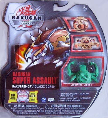 Bakugan Gundalian Invaders Super Assault - Ventus (Green) BAKUTREMOR/QUAKIX GOREM
