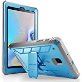 Galaxy Tab A 8.0 2018 Case, Poetic Revolution [Kick-Stand][Built-in-Screen Protector] Full-Body Rugged Heavy Duty Case for Samsung Galaxy Tab A 8.0 (2018) SM-T387 Verizon/Sprint/T-Mobile - Blue (Color: Blue)