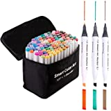 108 Pack Art Markers, 107 Coloring Markers and 1 Blender, Alcohol Based Dual Tip Permanent Markers Highlighters with Case, Excellent for Adults Kids Marking Drawing Sketching by Smart Color Art (Color: 108 Pack Art Markers)