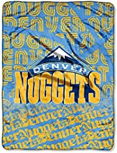 The Northwest Company NBA Denver Nuggets Redux Micro Raschel Throw 46-Inch by 60-Inch